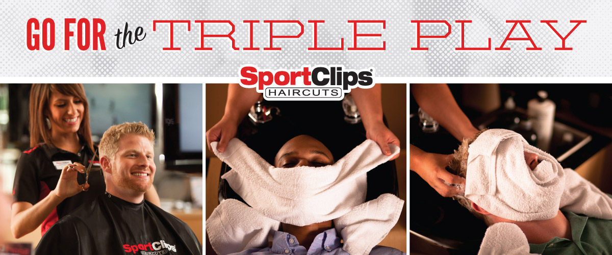 The Sport Clips Haircuts of Castleton Crossing Triple Play
